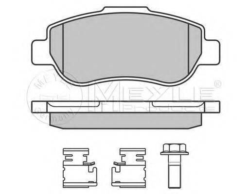 MEYLE 0252407217W Комплект тормозных колодок, дисковый тормоз