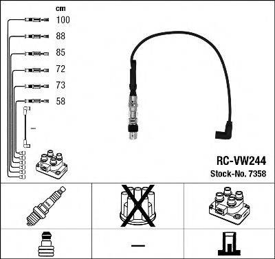 Комплект проводов зажигания NGK 7358