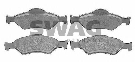 SWAG 50916400 Комплект тормозных колодок, дисковый тормоз