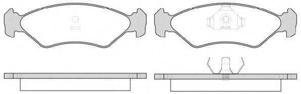 ROADHOUSE 228515 Комплект тормозных колодок, дисковый тормоз