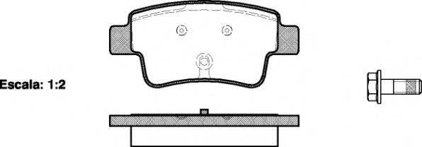 Комплект тормозных колодок, дисковый тормоз REMSA 1198.00