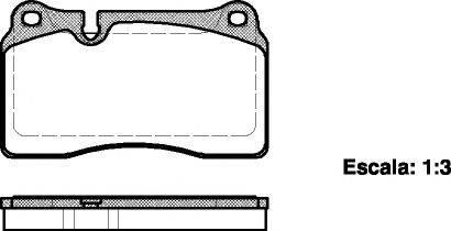 Комплект тормозных колодок, дисковый тормоз REMSA 1200.00