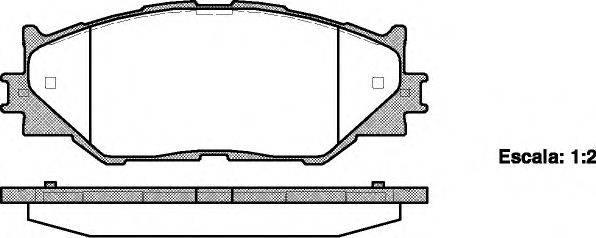 Комплект тормозных колодок, дисковый тормоз REMSA 1201.00