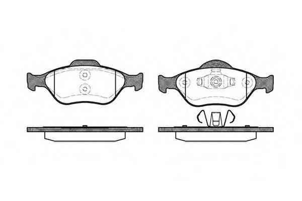 REMSA 076600 Комплект тормозных колодок, дисковый тормоз