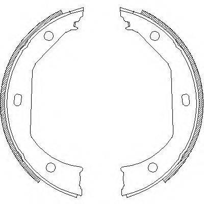 REMSA 471600 Комплект тормозных колодок, стояночная тормозная система
