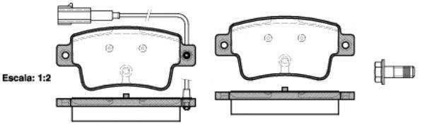 Комплект тормозных колодок, дисковый тормоз REMSA 1198.02