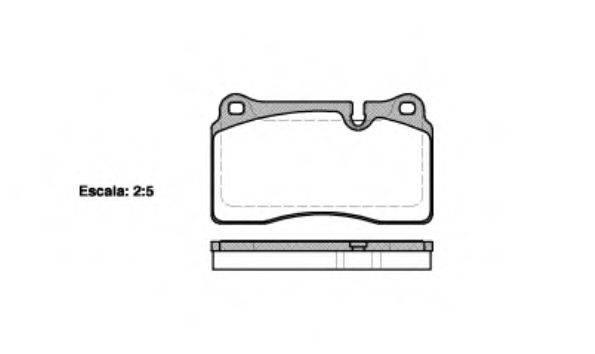 Комплект тормозных колодок, дисковый тормоз REMSA 1200.10