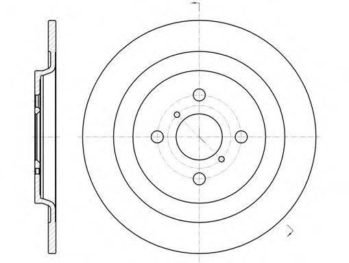 REMSA 6117300 Тормозной диск
