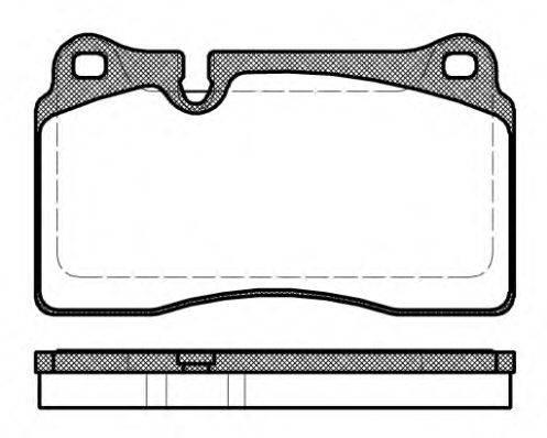 Комплект тормозных колодок, дисковый тормоз REMSA 1200.30