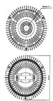 BUGIAD BFC027 Сцепление, вентилятор радиатора