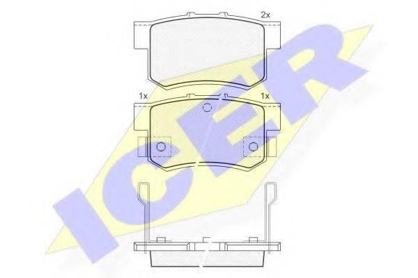 ICER 180798 Комплект тормозных колодок, дисковый тормоз
