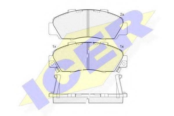 ICER 181019 Комплект тормозных колодок, дисковый тормоз