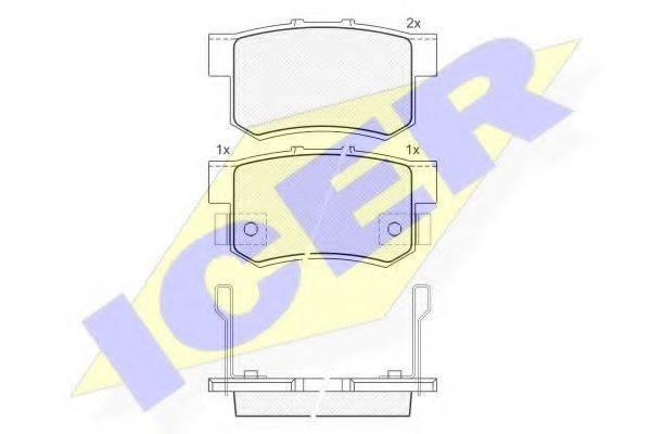 ICER 181187 Комплект тормозных колодок, дисковый тормоз