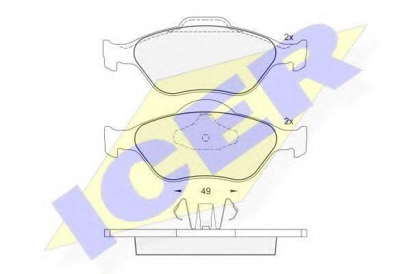 ICER 181343 Комплект тормозных колодок, дисковый тормоз