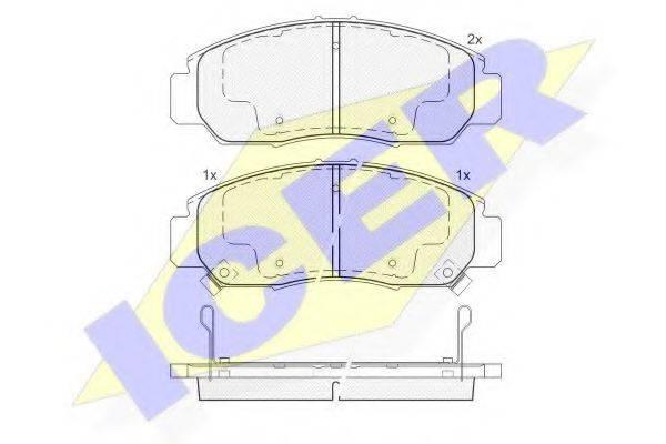 ICER 181543 Комплект тормозных колодок, дисковый тормоз