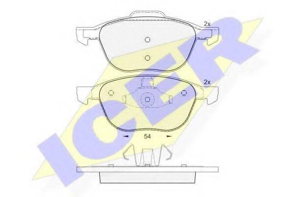 ICER 181617 Комплект тормозных колодок, дисковый тормоз