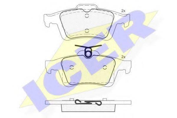 ICER 181744 Комплект тормозных колодок, дисковый тормоз