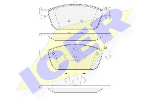 ICER 182134 Комплект тормозных колодок, дисковый тормоз