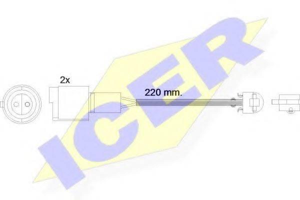 ICER 610239EC Сигнализатор, износ тормозных колодок