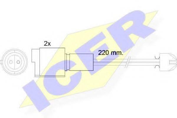 ICER 610394EC Сигнализатор, износ тормозных колодок