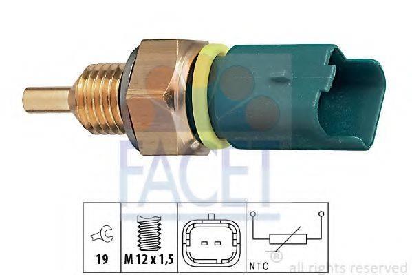 Датчик, температура охлаждающей жидкости FACET 7.3276