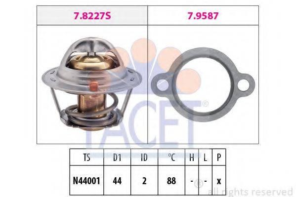 FACET 78409 Термостат, охлаждающая жидкость