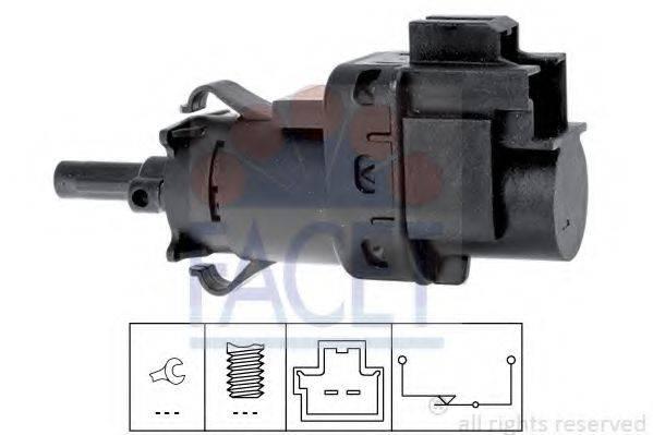 FACET 71231 Выключатель фонаря сигнала торможения; Выключатель, привод сцепления (Tempomat)