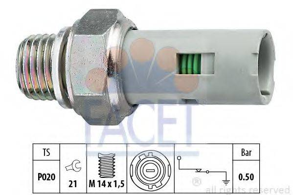 FACET 70151 Датчик давления масла