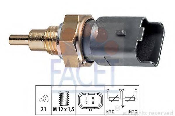 Датчик, температура охлаждающей жидкости FACET 7.3286