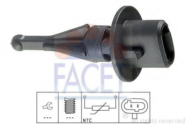 FACET 104010 Датчик, температура впускаемого воздуха