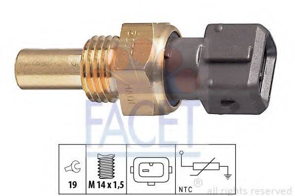 FACET 73077 Датчик, температура охлаждающей жидкости