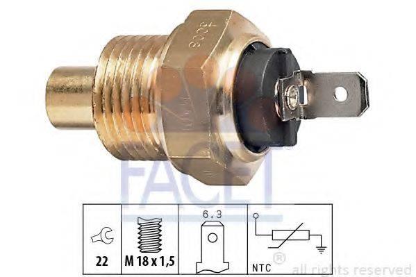FACET 73008 Датчик, температура охлаждающей жидкости