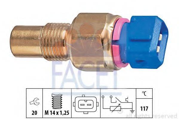 Датчик, температура охлаждающей жидкости FACET 7.3553
