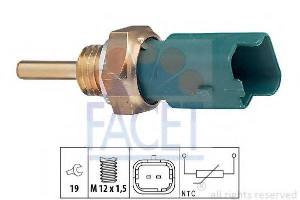 Датчик, температура охлаждающей жидкости FACET 7.3261