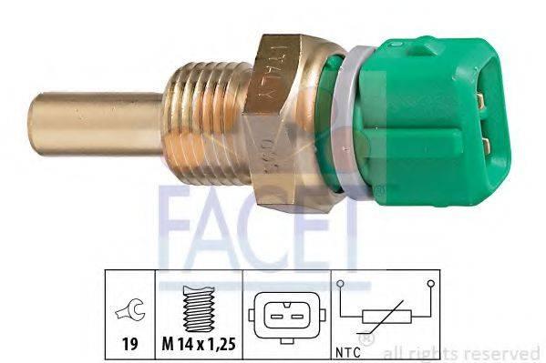 Датчик, температура охлаждающей жидкости FACET 7.3204