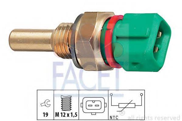 Датчик, температура охлаждающей жидкости FACET 7.3243