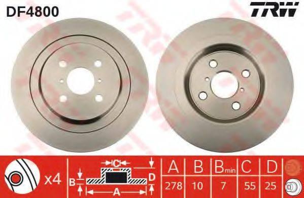 TRW DF4800 Тормозной диск