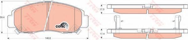 TRW GDB3268 Комплект тормозных колодок, дисковый тормоз