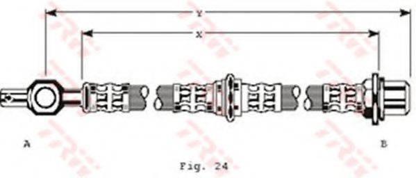 TRW PHD182 Тормозной шланг