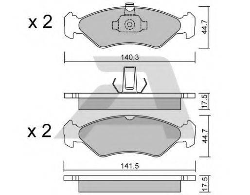 AISIN BPFO1011 Комплект тормозных колодок, дисковый тормоз