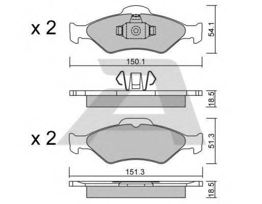 AISIN BPFO1012 Комплект тормозных колодок, дисковый тормоз
