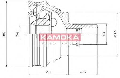 Шарнирный комплект, приводной вал KAMOKA 7338