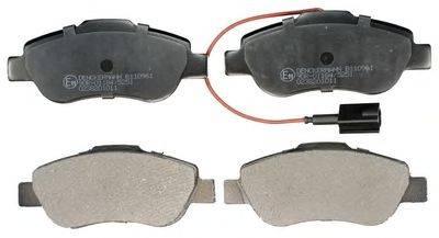 DENCKERMANN B110961 Комплект тормозных колодок, дисковый тормоз