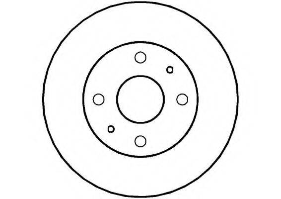 NATIONAL NBD1004 Тормозной диск