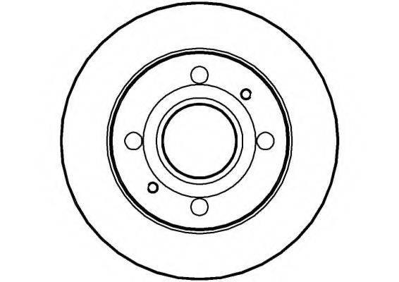 NATIONAL NBD1038 Тормозной диск