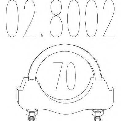 MTS 028002 Соединительные элементы, система выпуска
