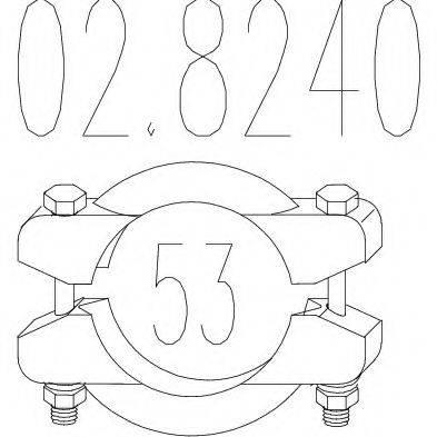 MTS 028240 Соединительные элементы, система выпуска