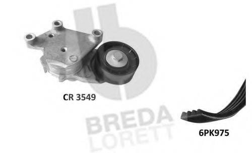 BREDA LORETT KCA0029 Поликлиновой ременный комплект