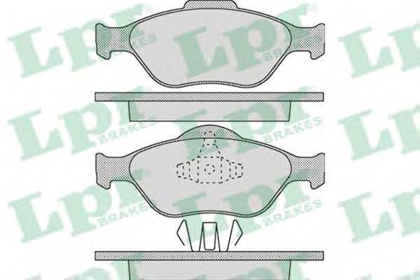 LPR 05P1088 Комплект тормозных колодок, дисковый тормоз