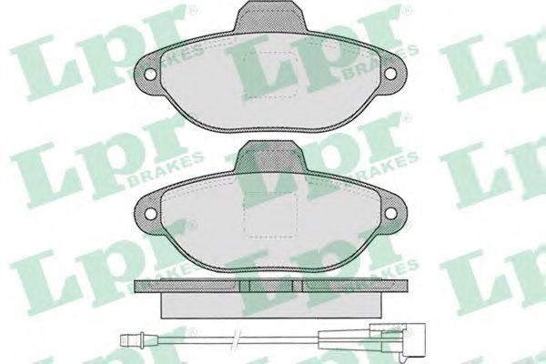 LPR 05P1262 Комплект тормозных колодок, дисковый тормоз